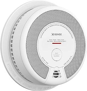 دزدگیر دود آشکارساز X-Sense ، 10 سال دود و هشدار آتش باتری با دکمه سنسور فوتوالکتریک و سکوت ، SD06