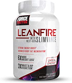 LeanFire with Next-Gen SLIMVANCE Advanced Thermogenic Fat Burner for Weight Loss with B Vitamins and Capsimax to Boost Met...