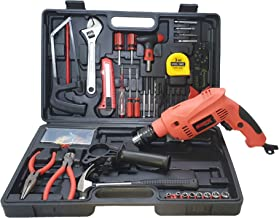 Cheston Powerful 13 mm Impact Drill Machine Cum Screwdriver Kit with 101 Pieces Tool Accessories for Drilling, Screwdriving