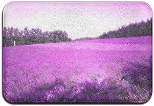 Purple Lavender Flowers Doormat Anti-slip House Garden Gate Carpet Door Mat Floor Pads
