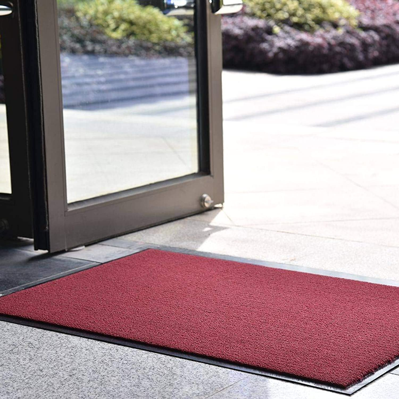 Indoor Outdoor Doormat, Entrance, Hallway, Front Door, Non-Slip Carpet in The Kitchen, Various Sizes-red-60x90Cm(24x35Inch)