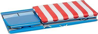 Relaxdays Tabouret Coffre boîte à Jouets Couvercle Pouf Enfant Pliable Glacier 50 litres, Bleu, 33 x 27 x 56 cm