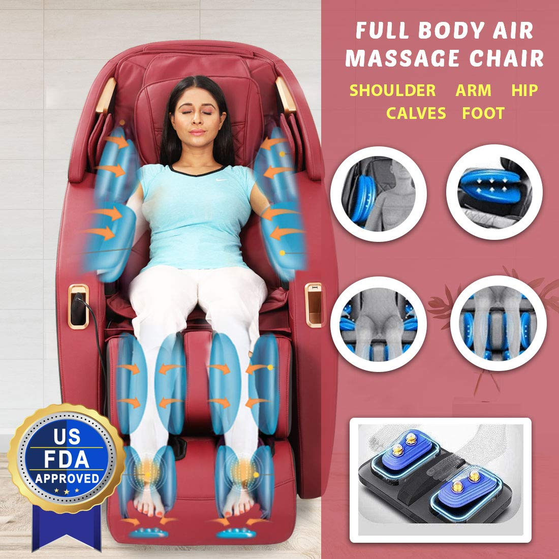 JSB MZ24 Full Body Massage Chair Zero Gravity 3D with Bluetooth Music
