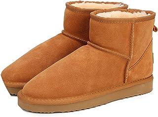 6611c5d3ce2 Winter s Snow Boots Cow Split Leather Ankle Big US ...