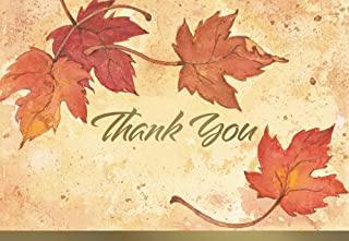 Great Papers! Fall Leaves, Folded, Thank You Note Card, 50 count, 4.875