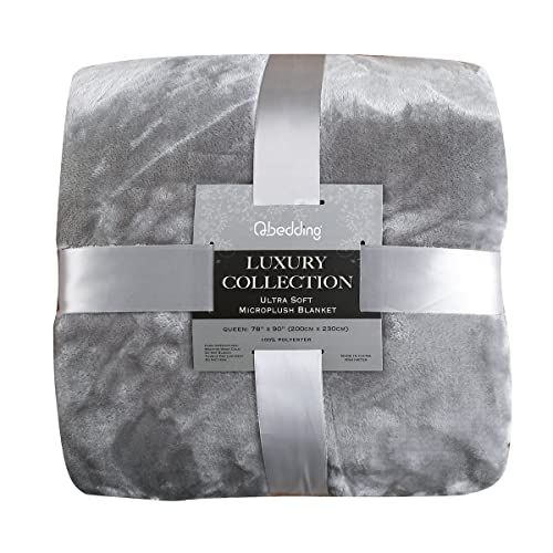 Qbedding Inc. Luxury Collection Ultra Soft Plush Lightweight All-Season  Throw Bed Blanket 157f2571b2418