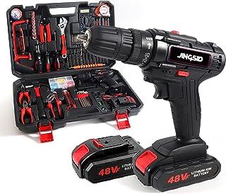 21V Cordless Power Drill Set, 153Pcs Household Power...