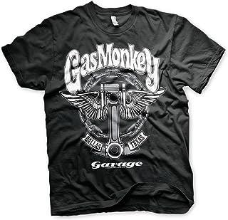 Gas Monkey Garage Oficialmente Licenciado Big Piston Camiseta para Hombre (Negro)