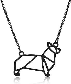Corgi Necklace, Corgi Origami Necklace, Corgi Gift Perfect for Dog Lovers, Dog Jewelry for Women, Dog Necklaces for Lovers of Corgis, Gifts for Corgi Lovers