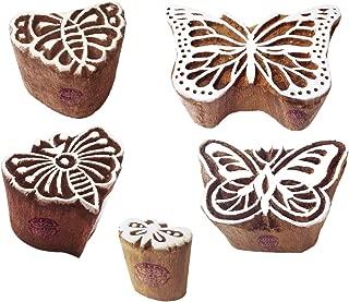 butterfly block print