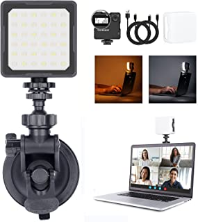 Video Conference Lighting Kit for Laptop, Bi-Color (2800K-8500K) Zoom Light for Computer, Laptop Computer Light for Video ...