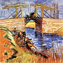 AED200-8K Hand Painted by College Teachers - 40 van Gogh Paintings - The Langlois Bridge at Arles Dutch Vincent van Gogh VVG2 - Art Oil Painting on Canvas -Size01