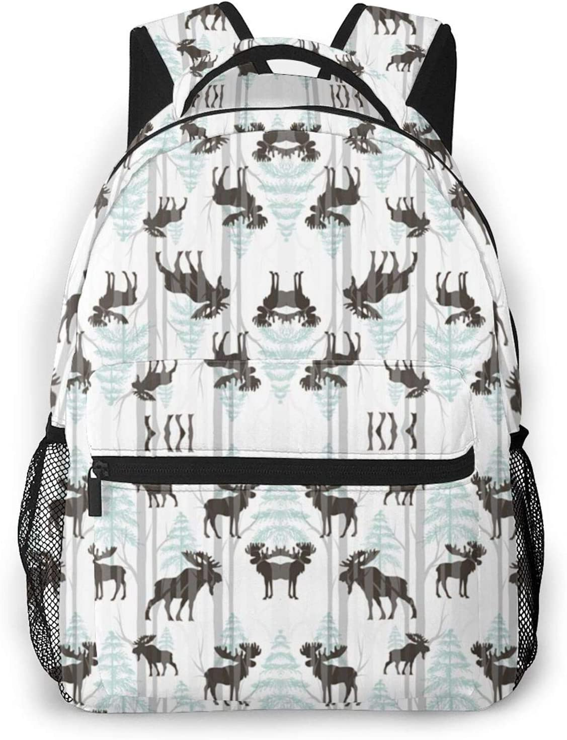 Many popular brands YOUNG H0ME Lightweight Polyester Travelin Forest Rucksacks Moose Sale item