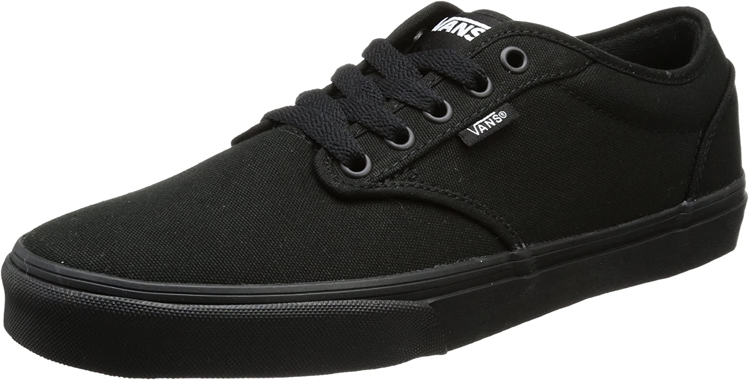 Vans Men's Atwood Canvas Total Black Low-Top Sneakers