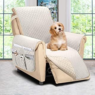 ASHLEYRIVER Reversible Recliner Chair Cover, Recliner Covers for Dogs,Recliner Slipcover,Recliner Covers for 3 Cushion Cou...