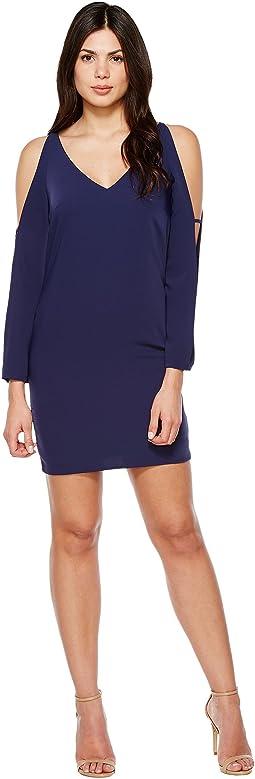 Split Long Sleeve Tank Cocktail Dress