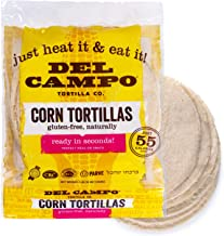 Del Campo Soft Corn Tortillas – 6 Inch Round 1 Lb. Bag. 100% Natural, Gluten Free and All-Corn Authentic Mexican Food. Man...
