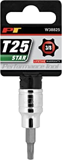 Performance Tool W38825 Dr T-25 Star Bit Socket Brand Performance Tool