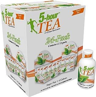 5 Hour Energy 5 Green Tea Leaves Peach Tea (24 X 1.93 Fl oz)Net wt (46.32 Fl Oz), 46.32 fl. oz.