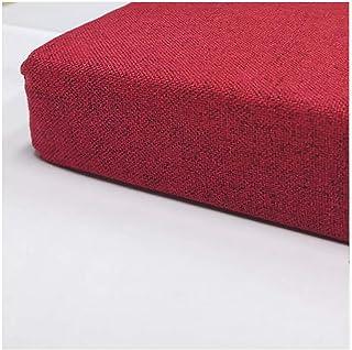 Cojín de Banco de 2 3 Asientos y cojín de Respaldo,Varios tamaños Color Rojo Oscuro-Rojo Oscuro 120x35x20cm(47x14x7.8in)