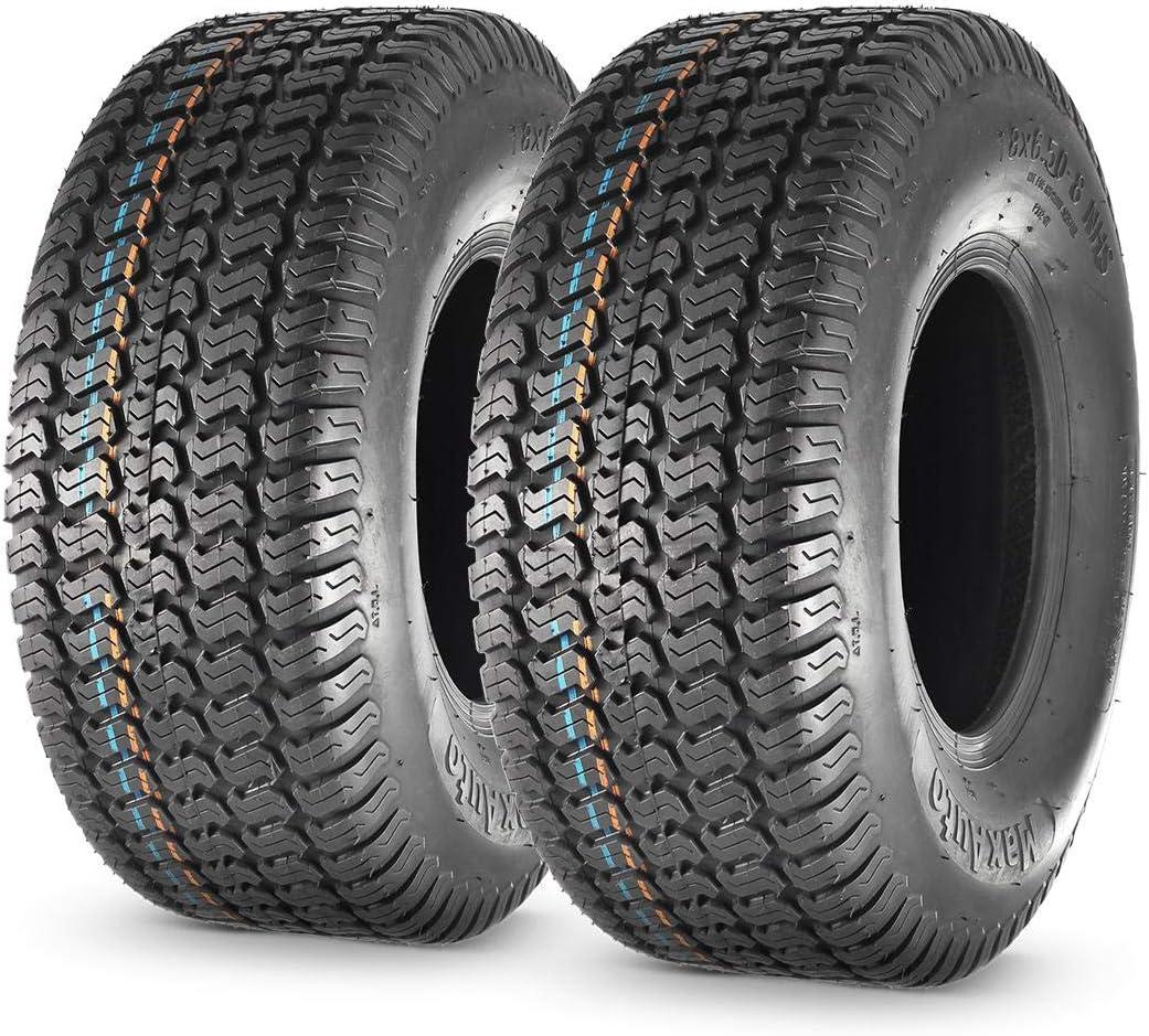 MaxAuto 18X6.50-8 18x6.5x8 Turf Saver Max 76% OFF Lawn Tire 4PR Set o Mower Industry No. 1