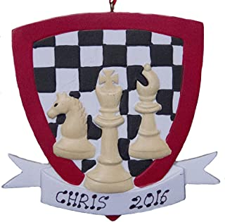 Rudolph and Me Personalized Chess Christmas Ornament 2019