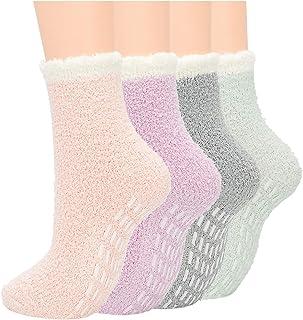 Century Star Anti Slip Athletic Plush Slipper Grip Socks Women Yoga Pilates Soft Warm Cozy Socks