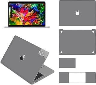 LENTION 13インチMacBook Pro 2018 / 2019 全面保護シルバースキンシール 液晶保護フィルム 5点セット 3M技術4H硬度 (スペースグレイ)