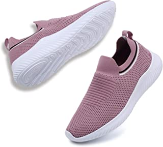 ANLUKE Womens Slip On Walking Shoes Casual Mesh Sneakers Lightweight Tennis Shoes Athletic Work Nurse Shoes