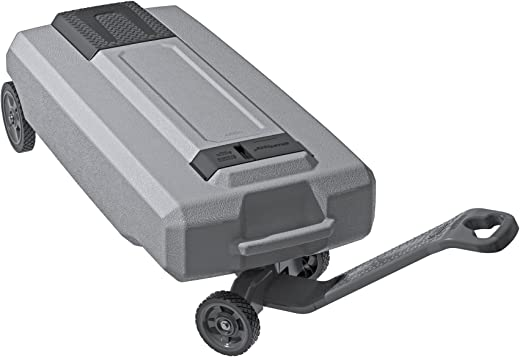 SmartTote2 RV Portable Waste Tote Tank - 4 Wheels - 35 Gallon - Thetford 40519 , Silver
