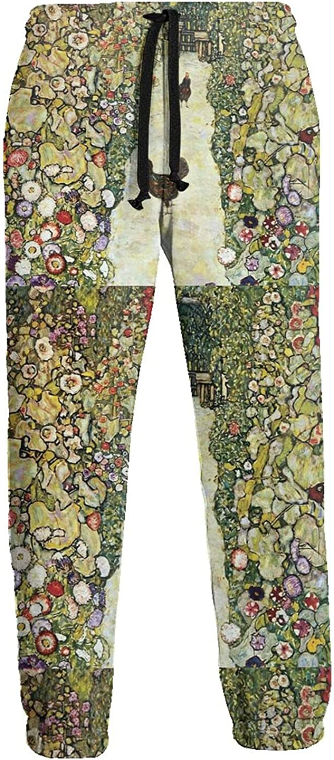 KAWAHATA Garden Roosters Men's Pants with Pockets Tapered Athletic Sweatpants 3D Casual Active Sports Pants