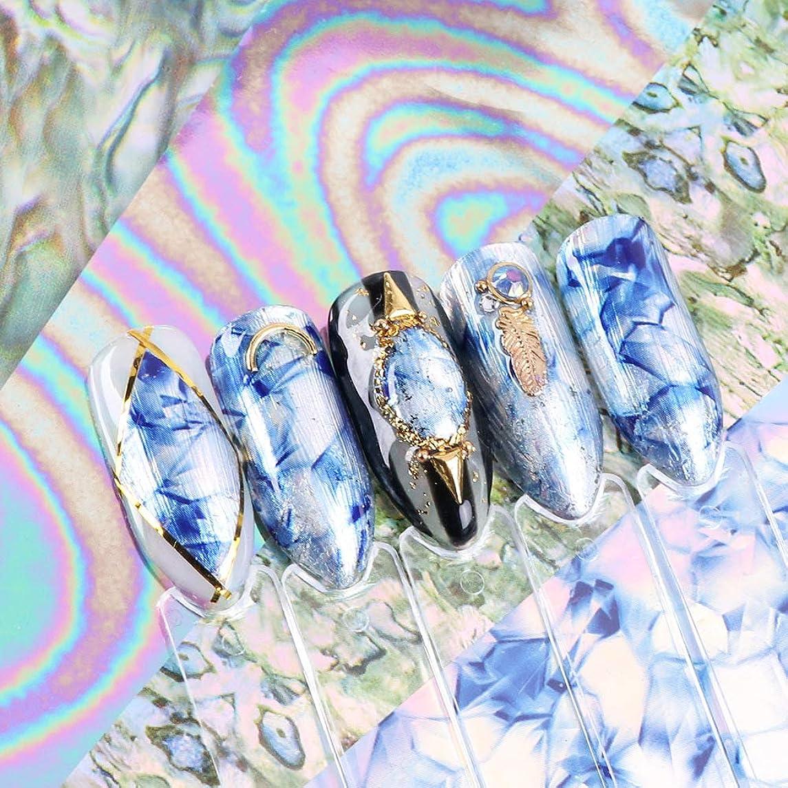 住人真珠のような爆発する5シール 夏 シェル ネイルホイル ネイルデコ ステッカー ネイルアート ホイル