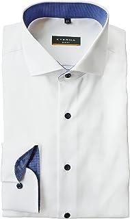 eterna Slim Fit Shirt in Long Sleeve 67 cm Pure Cotton Shark Collar Non-Iron