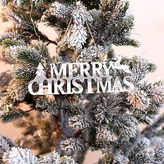 Accesorios de vacaciones de Navidad 30 cm marca inglesa colgante de madera Árbol de Navidad centro comercial decoraciones de ventana al por mayor-Cartulina blanca de 30 cm