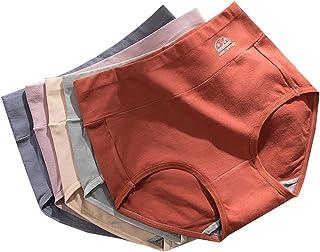 catch-L sous-vêtements pour Femmes Culottes en Coton Multipack Culotte Taille Haute Stretch sous-vêtements Bikini Hipster(...