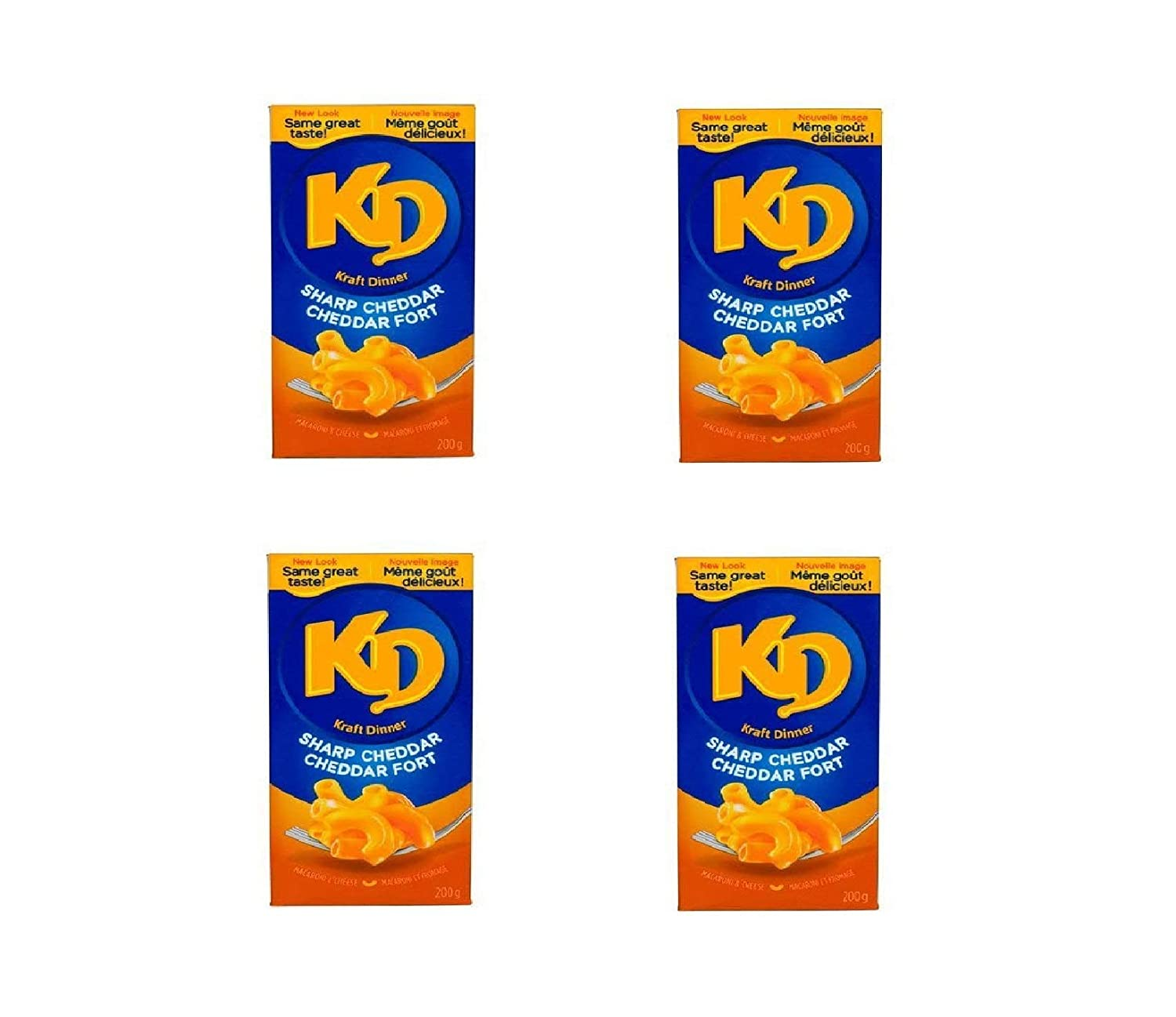 Kraft Dinner Sharp Cheddar 200g from Bombing Max 74% OFF new work 4-Pack Ca 7.05oz {Imported