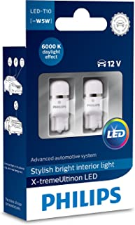 Philips 12799I60X2 X-tremeUltinon LED Interior car Light W5W T10 6000K 12V, Set of 2, Set of 2