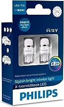 Philips 12799I60X2 X-tremeUltinon LED luz interior para coche W5W T10 6000K 12V, 2 unidades