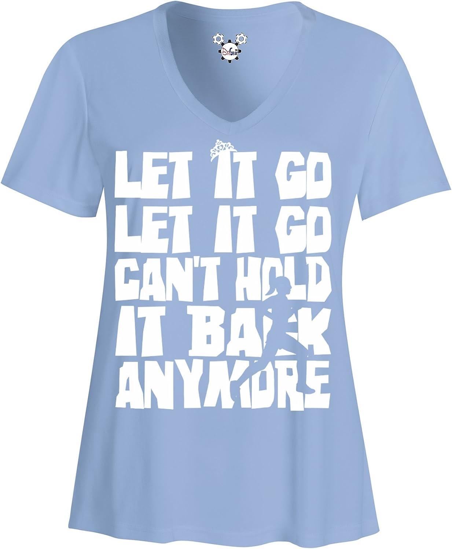 DisGear Elsa Let It Go Disney Performance Running VNeck Shirt