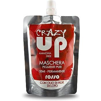 Crazy Up Maschera Colorante Senza Ammoniaca Semipermanente per Capelli - Rosso - 200 ml