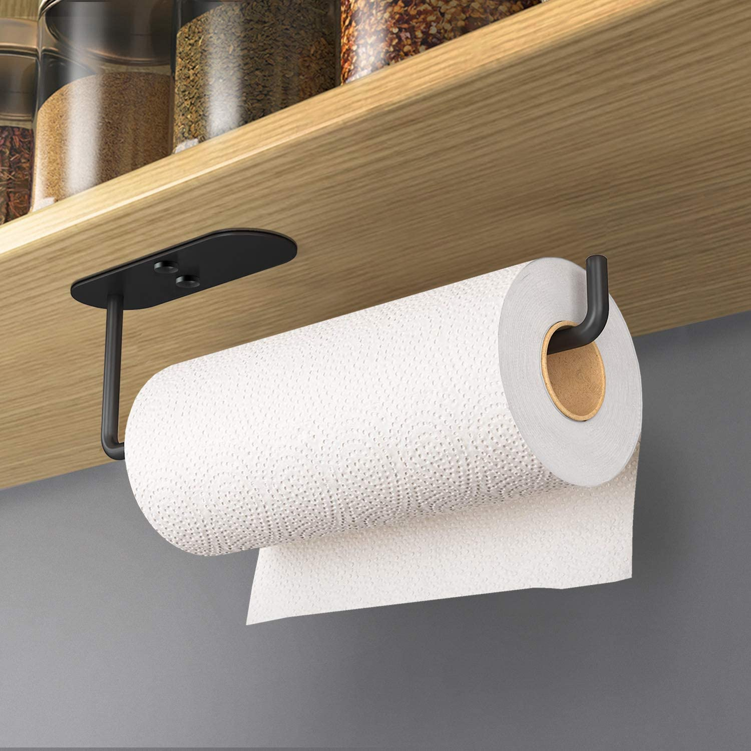 VAEHOLD Adhesive Paper Towel Holder Mount Cabinet Black Seattle Mall San Francisco Mall Under P