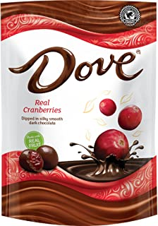 DOVE Fruit Dark Chocolate With Real Cranberries 6-Ounce Bag (Pack of 8)