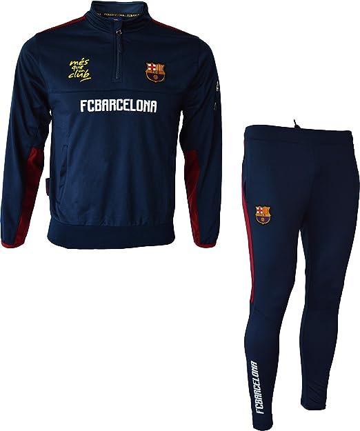 Fc Barcelona - Tuta da allenamento per bambino/ragazzo, collezione ufficiale FC Barcelona