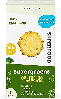 100% Natural, Super Delicious & Healthy Little Juice Smoothie Mix, Freeze Dried Superfoods, Super-Antioxidants, Probiotics, Vegan & Gluten Free - Pack of 9