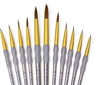 Royal & Langnickel RCC 309 - Set de brochas redondeadas de taklon marrón, 11 piezas