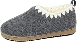 Gumusservi Women's Slippers with Backs Cozy Memory Foam Shoes with Hand Crocheted Collar and Anti-Slip Rubber Sole for Com...