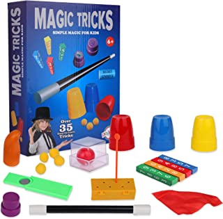 Playkidz Magic Trick for Kids Set 3 - Magic Set with Over 35 Tricks Made Simple, Magician Pretend Play Set with Wand & Mor...