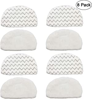 Extolife 8 Pack Steam Mop Replacement Pads for Bissell Powerfresh Steam Mop 1940 1806 1544 1440 Series, Model 19402 19404 19408 19409 1940A 1940F 1940Q 1940T 1940W B0006 B0017 2075A Part 5938&203-2633