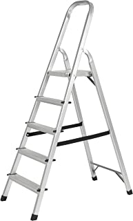 Best Choice Products 330lbs Aluminum Foldable 5 Step Non-slip Ladder Lightweight Kitchen Garage