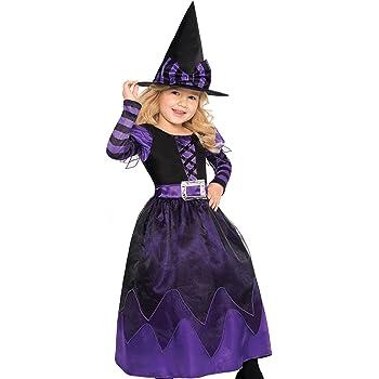 Disfraz de bruja para niña con vestido de fiesta adornado para ...